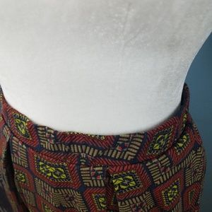 LuLaRoe Skirts - LulaRoe Skirt Brown and Red Size Xl